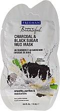 "Profumi e cosmetici Maschera al fango per viso ""Carbone, zucchero nero"" - Freeman Feeling Beautiful Charcoal & Black Sugar Mud Mask (mini)"