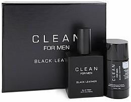 Profumi e cosmetici Set - Clean Black Leather Men (edt/100ml + deo/75ml)