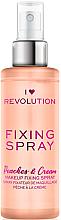Profumi e cosmetici Spray fissante trucco - I Heart Revolution Fixing Spray Peaches & Cream