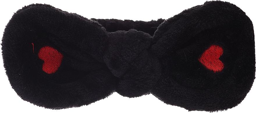 Fascia per capelli cosmetica, nera - Lash Brow Cosmetic SPA Band