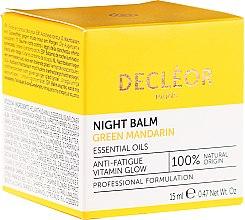 Profumi e cosmetici Balsamo viso levigante da notte - Decleor Green Mandarin Glow Night Balm