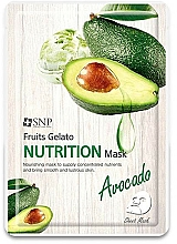 Profumi e cosmetici Maschera viso nutriente con avocado - SNP Fruits Gelato Nutrition Mask