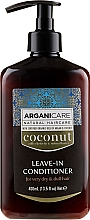 Profumi e cosmetici Balsamo indelebile per capelli molto secchi e opachi - Arganicare Coconut Leave-In Conditioner For Very Dry & Dull Hair