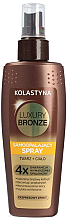 Profumi e cosmetici Spary autoabbronzante corpo e viso - Kolastyna Luxury Bronze Tanning Spray