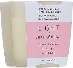 "Profumi e cosmetici Candela profumata ""Basilico e lime"" - AromaWorks Light Range Basil & Lime Candle"
