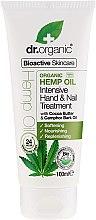 """Profumi e cosmetici Crema per mani e unghie """"Olio di cannabis"""" - Dr. Organic Hemp Oil Intensive Hand & Nail Treatment"""