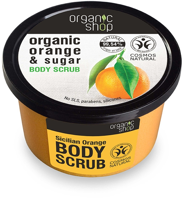"Scrub corpo ""Arancia siciliana"" - Organic Shop Body Scrub Organic Orange & Sugar"