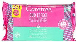 Profumi e cosmetici Salviette umidificate, 40 pezzi - Carefree Intimate Aloe Vera Wet Wipes