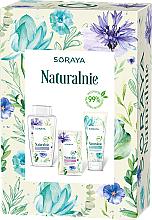 Profumi e cosmetici Set - Soraya Naturally (micellar water/400ml + f/gel/150ml + f/mask/17ml)