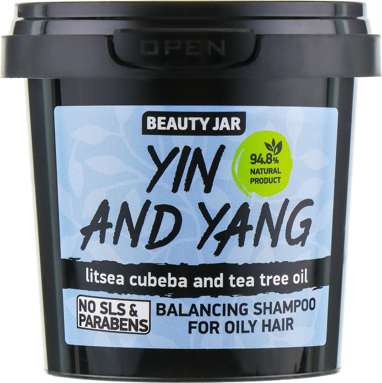 Shampoo per capelli grassi Yin and Yang - Beauty Jar Shampoo For Oily Hair