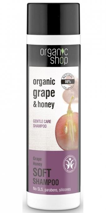 """Shampoo per capelli """"Cura morbida, miele d'uva"""" - Organic Shop Organic Grape and Honey Soft Shampoo"""