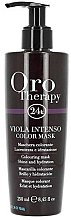 Profumi e cosmetici Maschera per capelli tonificante intensiva - Fanola Oro Therapy Viola Intenso Color Mask