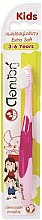 Profumi e cosmetici Spazzolino da denti ultra morbido per bambini, rosa - Twin Lotus Dok Bua Ku Kids Toothbrush ExtraSoft
