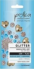 Profumi e cosmetici Maschera idratante ed esfoliante con lino - Polka Glitter Peel Off Mask Flax