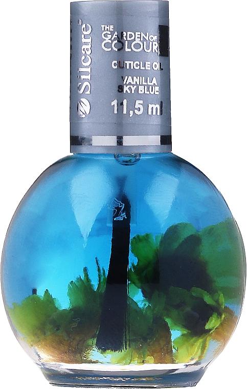 Olio per unghie e cuticole ai fiori - Silcare The Garden Of Colour Vanilla Sky Blue
