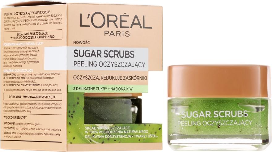 Scrub per il viso, zucchero purificante - L'Oreal Paris Sugar Scrubs