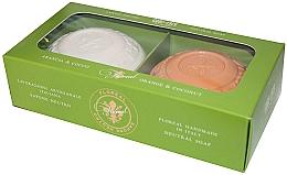 """Profumi e cosmetici Set sapone """"Arancia e Cocco"""" - Gori 1919 Floreal Orange & Coconut (soap/2 x 150 g)"""