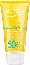 Profumi e cosmetici Protezione solare viso con effetto anti-età - Biotherm Sun Protection Creme Solaire Anti-age SPF 50