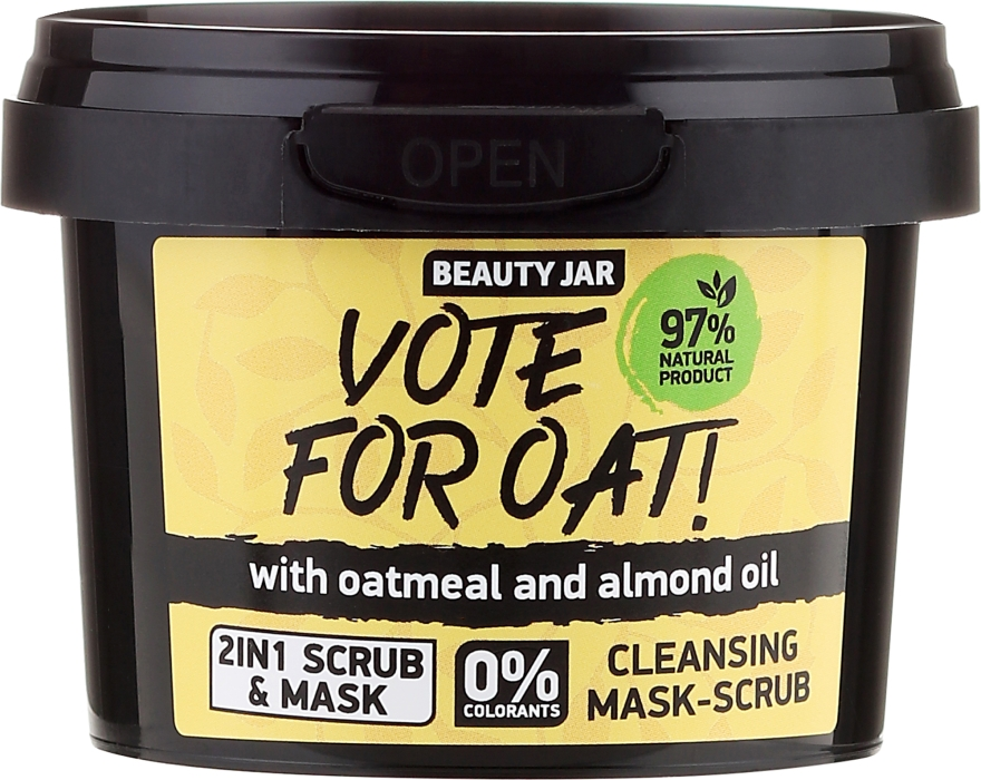 Maschera-scrub purificante - Beauty Jar Vote For Oat! Cleansing Mask-Scrub