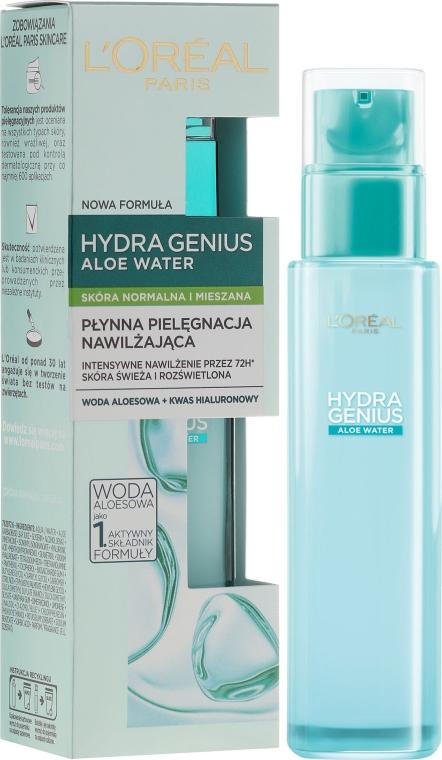 Trattamento idratante liquido per pelli normali e miste - L'Oreal Paris Hydra Genius Aloe Water