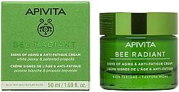 Profumi e cosmetici Crema anti-età e anti-stanchezza - Apivita Bee Radiant Signs Of Aging & Anti-Fatigue Cream Rich Texture