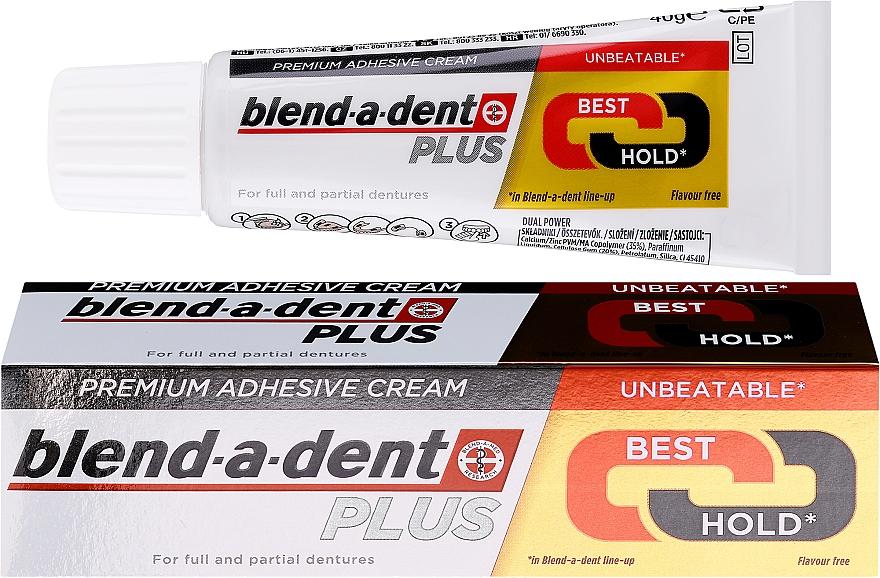 Crema di fissaggio per protesi dentale - Blend-A-Dent Premium Adhesive Cream Plus Dual Power Light Mint