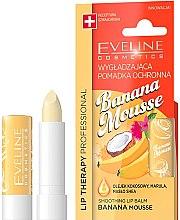 "Profumi e cosmetici Balsamo labbra ""Mousse di banana"" - Eveline Cosmetics Lip Therapy Smoothing Balm Banana Mousse"