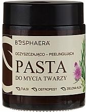 Profumi e cosmetici Pasta peeling viso detergente con alghe verdi - Bosphaera