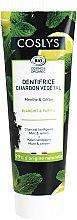 Profumi e cosmetici Dentifricio al carbone con menta e limone - Coslys Mint & Lemon Charcoal Toothpaste