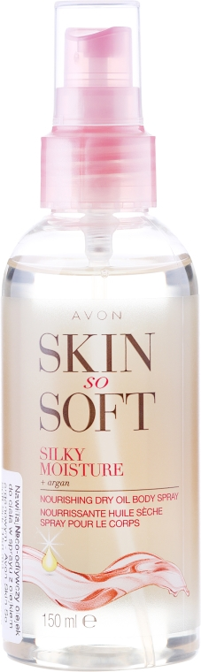 Olio-spray per corpo - Avon Skin So Soft Silky Moisture Dry Oil Spray — foto N1