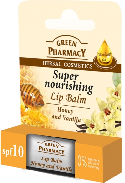 "Balsamo labbra ""Miele e vaniglia"" - Green Pharmacy Lip Balm With Honey And Vanilla"