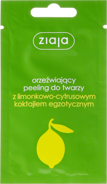 Scrub rinfrescante viso con un cocktail esotico al lime-citrus - Ziaja Lime Facial Peeling Refreshing