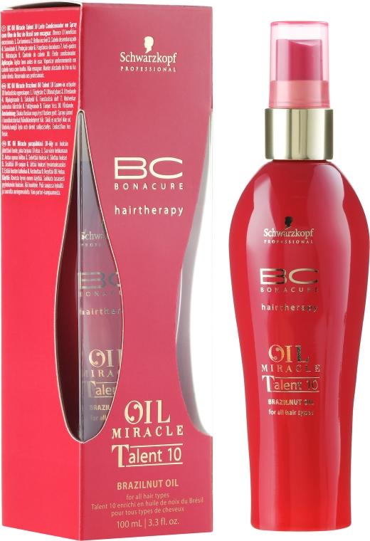 Spray per capelli, con olio alla noce brasiliana - Schwarzkopf Professional BC Bonacure Oil Miracle Brazilnut Talent 10 Leave-In Treatment