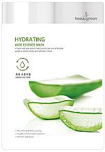 Profumi e cosmetici Maschera con estratto di aloe vera - BeauuGreen Hydrating Aloe Essence Mask