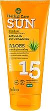 Profumi e cosmetici Emulsione abbronzante impermeabile - Farmona Herbal Care Sun SPF 15