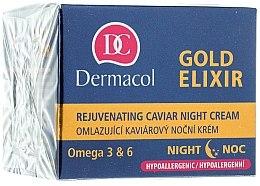 Crema anti-età, notte - Dermacol Gold Elixir Rejuvenating Caviar Night Cream — foto N1