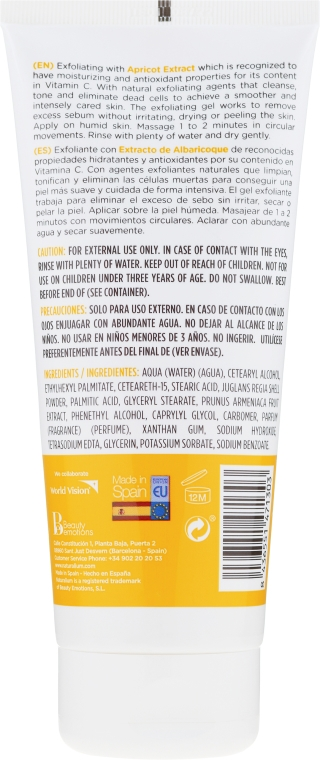 Scrub corpo - Naturalium Invigorating Apricot Scrub — foto N2