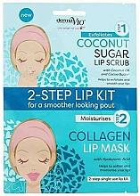 Profumi e cosmetici Maschera scrub al cocco - Derma V10 2 Step Lip Treatment Kit Coconut