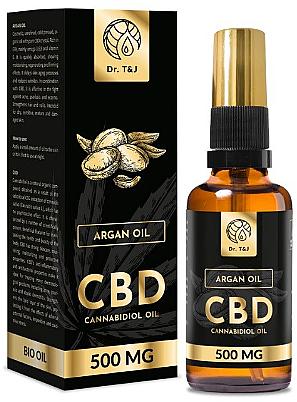 Olio di Argan naturale CBD 500mg - Dr. T&J Bio Oil — foto N1