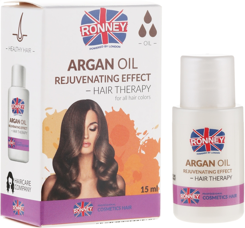 Olio per capelli danneggiati - Ronney Argan Oil Rejuvenating Hair Therapy