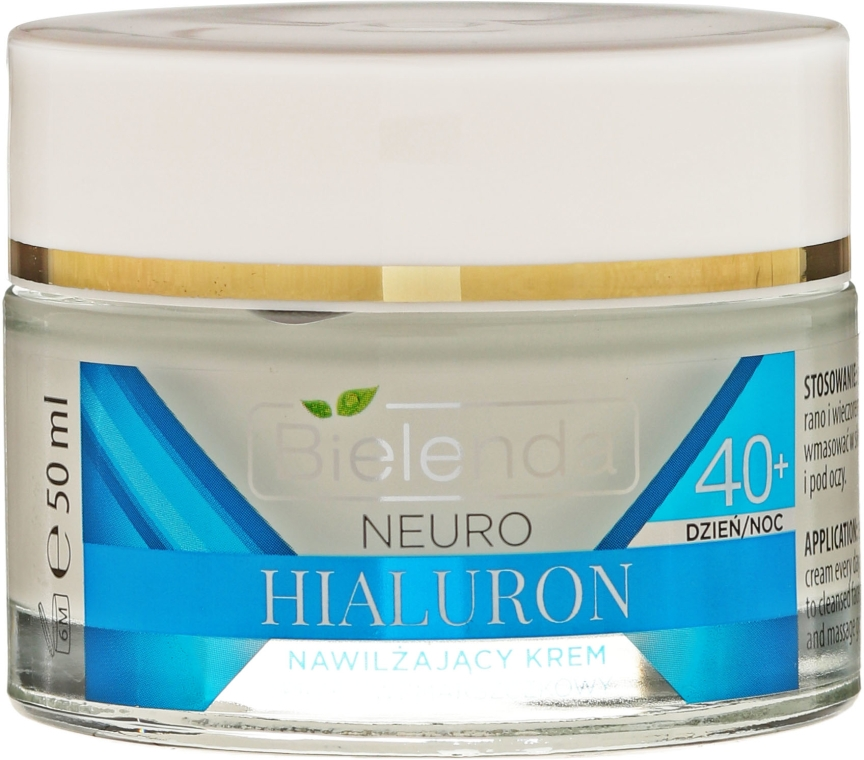 Crema idratante anti-rughe 40+ - Bielenda Neuro Hialuron Moisturizing Anti-wrinkle Cream-concentrate