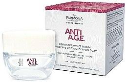 Profumi e cosmetici Crema-siero viso e contorno occhi - Farmona Anti-AGE Glycation Fibro-Rebuilding Serum In Cream For Face & Under Eye