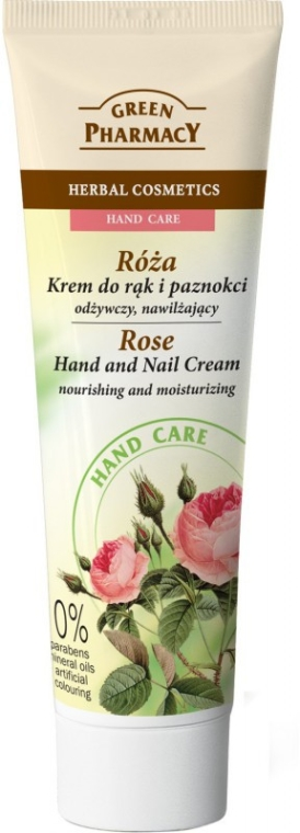 "Crema mani e unghie nutriente ""Rose"" - Green Pharmacy"