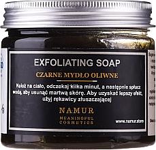 Profumi e cosmetici Sapone nero naturale - Namur Black Exfoliating Soap