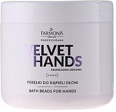 Profumi e cosmetici Perle per il bagno delle mani con il profumo di giglio e lillà - Farmona Professional Velvet Hands Bath Beads For Hands