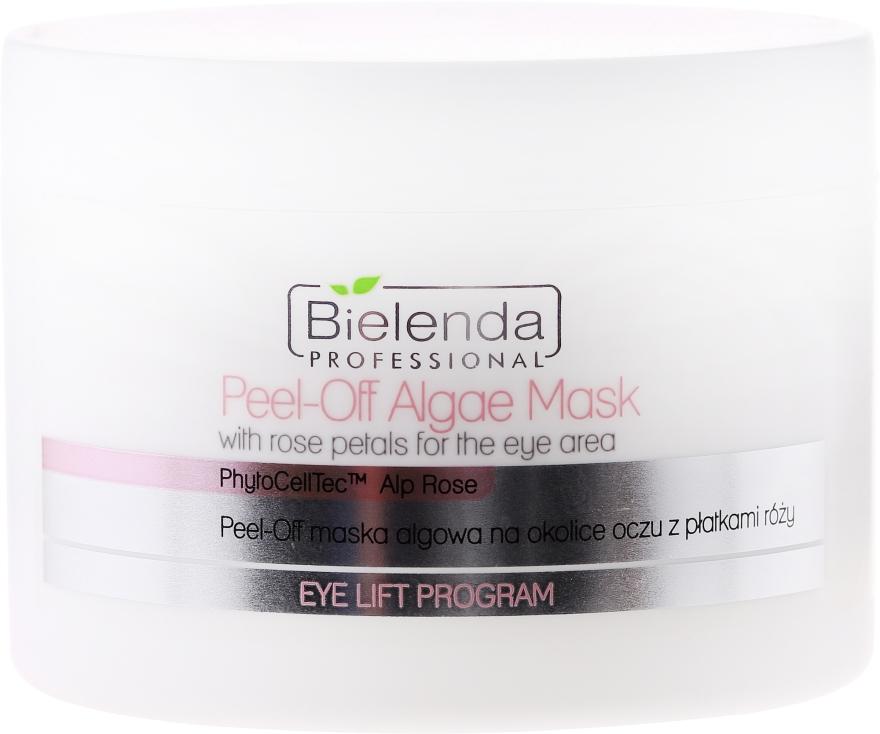 Maschera di alghe con petali di rosa per contorno occhi - Bielenda Professional Eye Lift Program Peel-Off Algae Mask