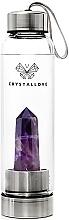 Profumi e cosmetici Bottiglia con cristallo ametista, 550 ml - Crystallove