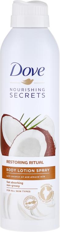 """Lozione spray corpo """"Coconut"""" - Dove Body Restoring Ritual Lotion Spray"""