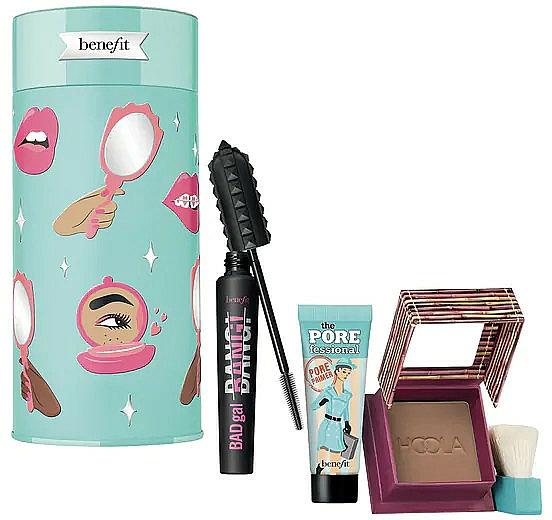 Set - Benefit BADgal To The Bone Face & Eye Holiday Set (mascara/8.5g + bronzer/8g + primer/7.5ml)