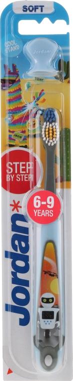 Spazzolino da denti per bambini Step 3 (6-9) morbido, con gomma, robot - Jordan — foto N1